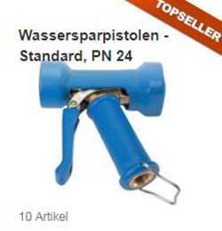 Wassersparpistole Standard, Edelstahl / Messing