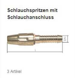 Schlauchspritzen mit Schlauchanschluss