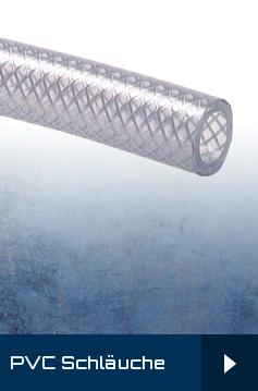 TX9 - PVC-Schläuche mit Gewebeeinlage - transparent - Meterware