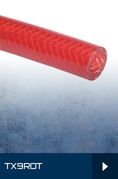 TX9 Rot - PVC-Schläuche mit Gewebeeinlage - rot - Meterware