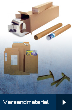 Versandrohre, Versandtaschen, Faltkartons, Versandboxen, Begleitpapiertaschen,