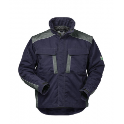 Zürich 2 in 1 Canvas Outdoorjacke marine/grau Gr. S