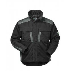 Basel 2 in 1 Canvas Outdoorjacke schwarz/grau Gr. S