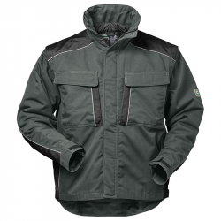 Genf  2 in 1 Canvas Outdoorjacke grau/schwarz Gr. S